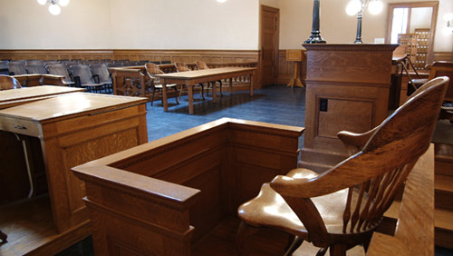 jury room empty expert witness chair